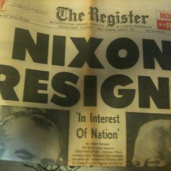 The Register Nixon Resigns - Paper