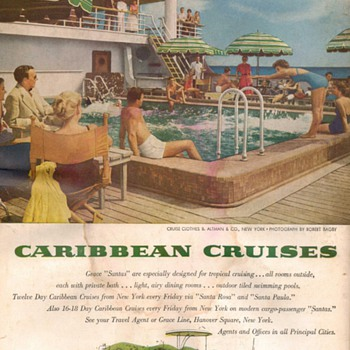 1954 - Grace Lines Advertisement - Advertising