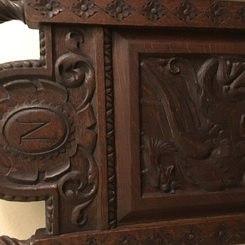 Hand carved with beautiful dragon image  - Furniture