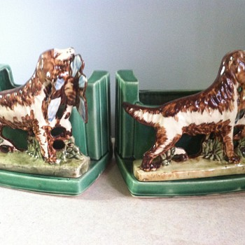 McCoy Bird Dog Planter Bookends