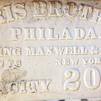 Cast Iron RAILROAD SIGN