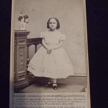 Civil War redeemed slave child CDV - Photographs