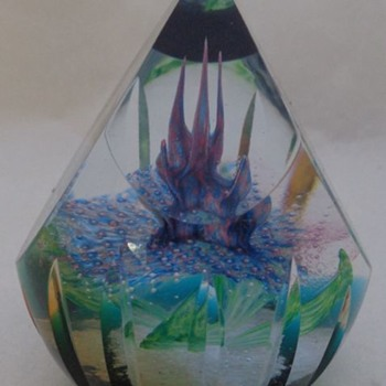 Aztec Rainflower Alastair MacIntosh  Caithness Glass Paperweight
