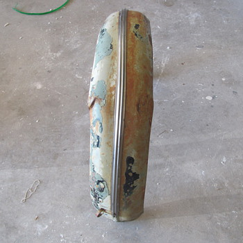 old motorcycle, side car fender?