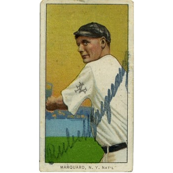 T206 Autograph HOFer Baseball Card - Rube Marquard (Pitcher) - Baseball