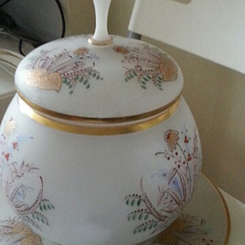 SUPERSIZED Glass Punch Bowl Satin Glass