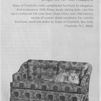 1968 - Shaw Furniture Advertisement - Advertising