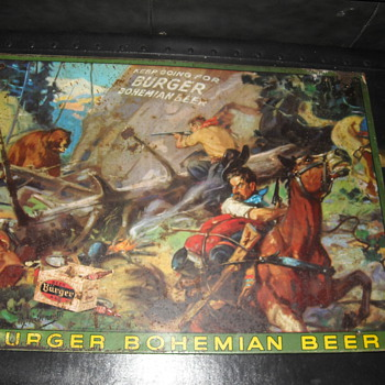 Hintermeister Burger Beer Metal Advertising Sign American Artworks Inc - Signs
