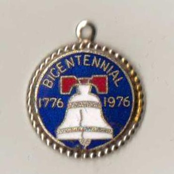 "Bicentennial ""Liberty Bell"" Charm - Costume Jewelry"