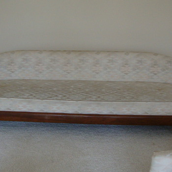 Vintage Mid Century Sofa Hollywood Style American Barrel Back Couch
