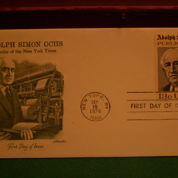 1976 Adolph Simon Ochs 13¢ First Day Of Issue Envelope & Stamp - Stamps