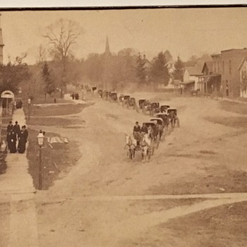 Antique photo possible funeral procession? Wadsworth,Ohio