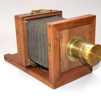 Bernoud, Alphonse.| 1850s.| French or Italian Early Wet Plate Tailboard camera.|