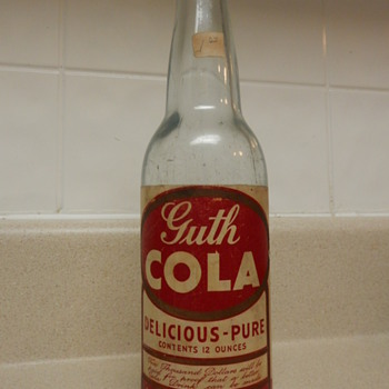 Guth Cola Bottle  - Bottles