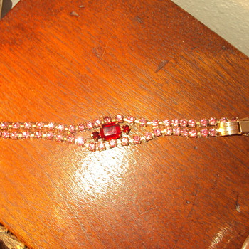 Rhinestone Bracelet - Costume Jewelry