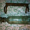 Glass Bottle 14in long with brass turn valve