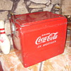 50s all original coca cola hinged cooler