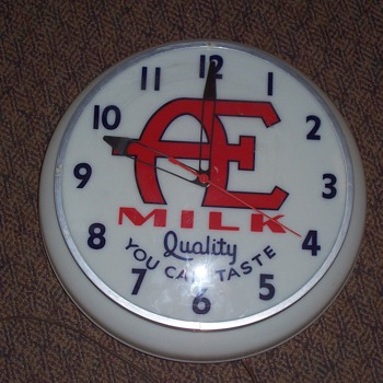 Advertising lighted electric Milk wall clock