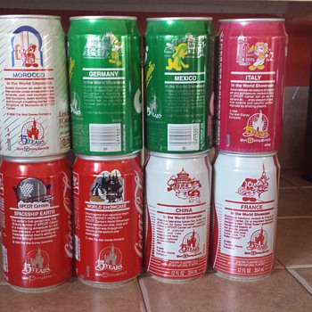 Disney 15 years Coke cans
