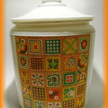 A 1970's Glass Cookie Jar