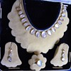 Antique Victorian? Moonstone 12k Rose Gold Necklace Earring Ring Parure