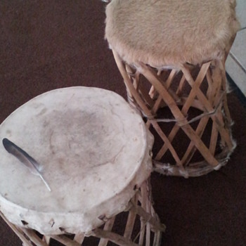 Handcrafted Drum and Stool - Furniture