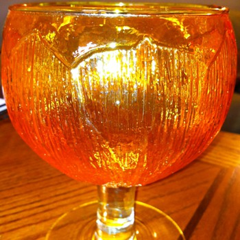 Beautiful Orange/Tangerine Goblets - Glassware