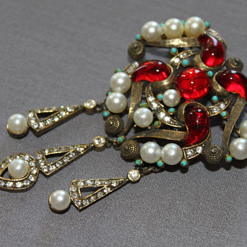 R. Mandle Brooch / Pendant - Costume Jewelry