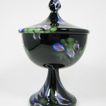 Czech Art Deco Glass Covered Candy Millefiori Tango ca. 1930's