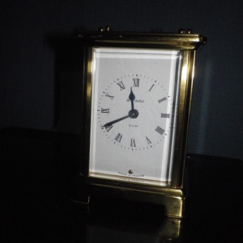 Duvedrey & Bloquel seven jewel French made Carriage clock, manual wind working brass and clock. - Clocks