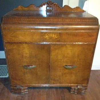 Know anything about this?: Antique Bassett Waterfall Server Buffet Cabinet - Furniture