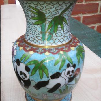 My cloisonne vase