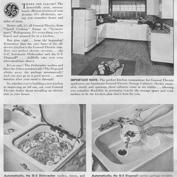 1948 - General Electric Appliances Advertisement