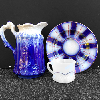 Truly Flowing Blue Pitcher ID???????
