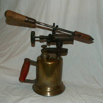 Antique Otto Bernz Co. Rochester, NY Brass Blowtorch & Soldering Iron - Tools and Hardware