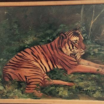 Tiger painting  - Visual Art