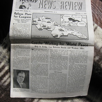 Weelly News Review ...this one from 1946 - Paper