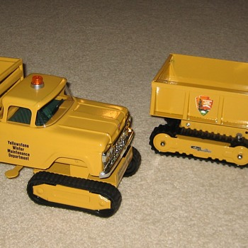 Set of TWO Yellowstone Park Winter Maintenance Trucks!