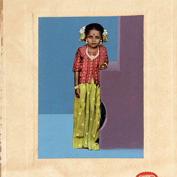 Vintage Indian Hand-Coloured Photograph - Photographs