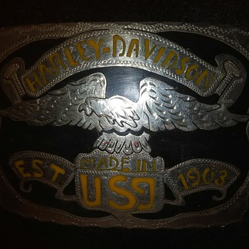 1903 Harley Daveson Belt Buckle, ??? Cant find any records of it - Accessories