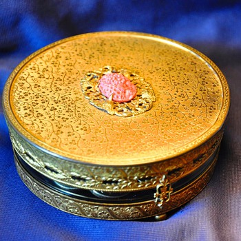 French? Deco? Jewellery round box - Art Deco