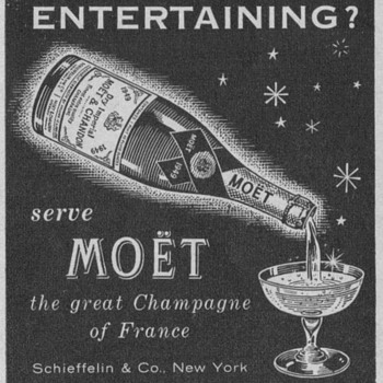 1954 Moet & Chandon Advertisements - Advertising