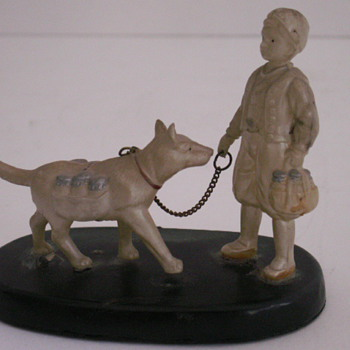 Boy & Dog Figurine