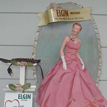 1940&#039;s Elgin watch display with mannequin 
