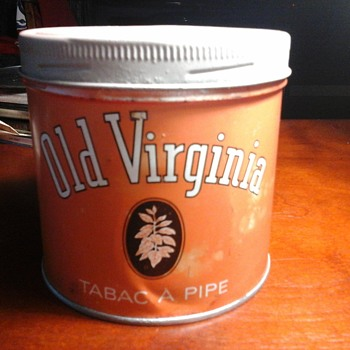 Old Virginia tin