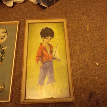 Dallas Simpson Prints vintage retro 1960's with a B.Raphael similar Print all framed