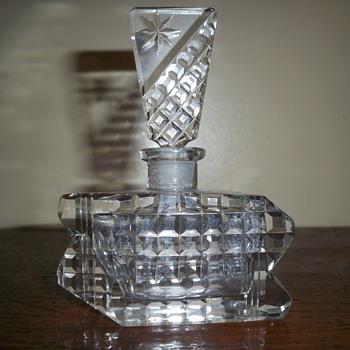 Waffle pattern Czech perfume bottle - Bottles