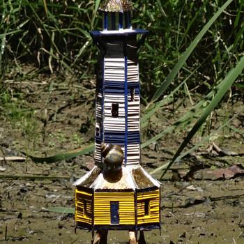 Popsicle Stick Lighthouse - Popsicle Stick House- Popsicle Stick Art