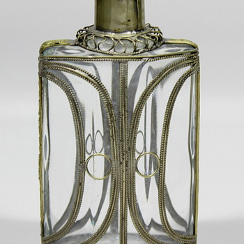 re: in response to Truthisanarrow8's Art Deco Style Metal & Glass Combined Oil Bottle ?? For 3-in-1 oil Perhaps  - Art Glass