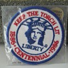 100 yrs. commemorative 1886-1986 Statue of Liberty patch and pin.   